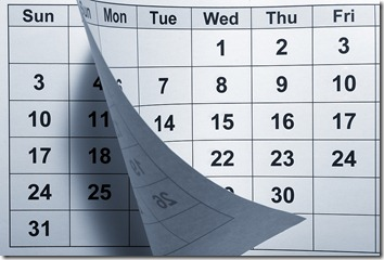 calendar for waiting another 30 days to see if employee performance improves